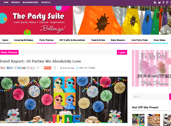 Belleneza Party Suite Lookie Boo Childrens fashion blog kids fashion blog parties party