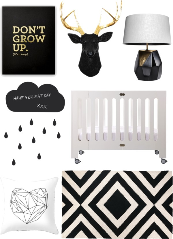 Black and White Modern Nurser Inspiration