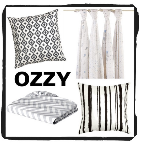 Ozzy James Nursery Nook Black White Inspiration Board Lookie Boo