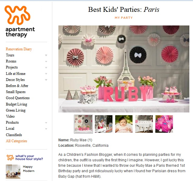 Rubys paris party feature on apartment therapy family