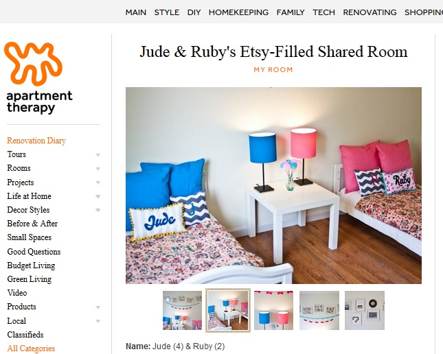 The House That Etsy Built J & R Apartment Therapy