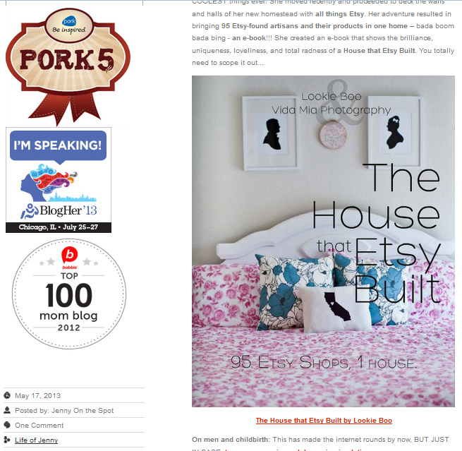 The House That Etsy Built featured on JOTS