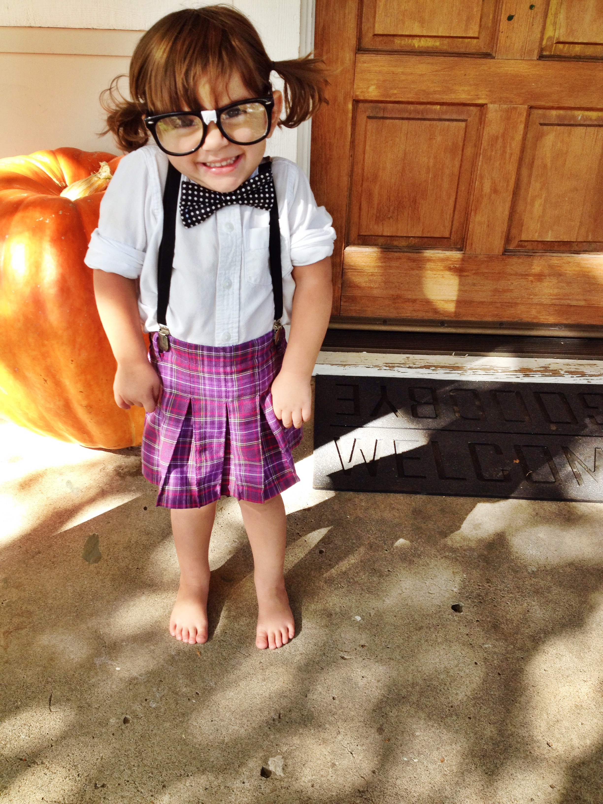 Easy Inexpensive u0026 Adorable DIY Halloween Costumes for Littles! {Nerd} | Lookie Boo